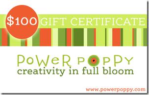 Power Poppy Gift Certificate